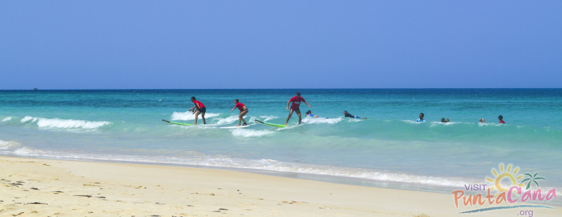 Surfers in Punta Cana